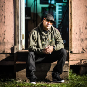 Pic of Ren Da HeatMonsta for his Artist page on Central Valley Entertainment. Clicking this image where Ren is sitting on some steps will give you access to his artist music and bio.